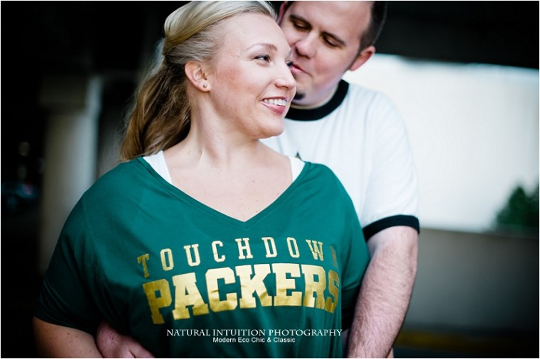 Madison Wedding Photographer, Olbrich Park, Spring Engagement, Madision Wisconsin Engagement, Rainy Engagment, Monoa Terrace Engagement Session, Parking Garage Engagement Session, Green Bay Packers Engagement, Green Bay Packer Fan