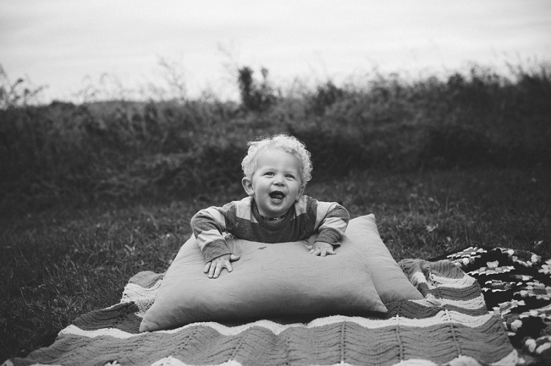 Happy Kid in the Fall - Wisconsin Portrait Photographer
