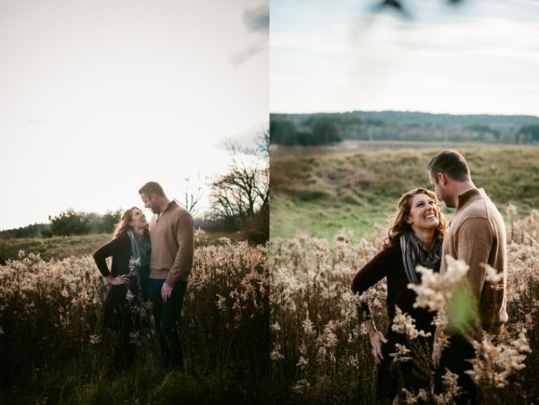 Woodsy Fall Engagement Session, Wisconsin Photographer