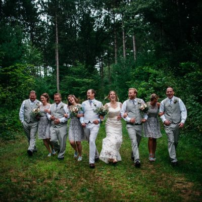 Bridal Party - Outdoor Wedding in Wisconsin
