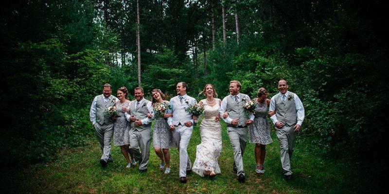 Bridal Party - Outdoor Wedding in Wisconsin