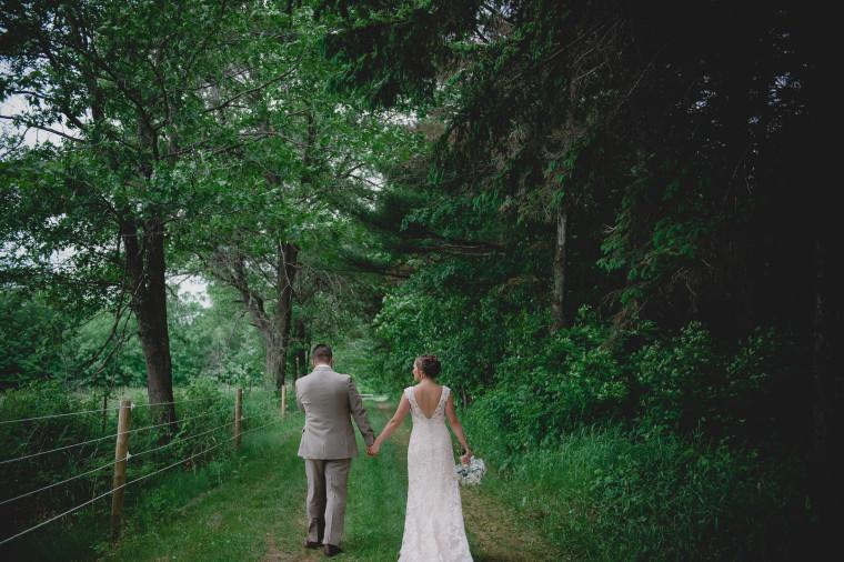 Backyard Wedding in Wisconsin