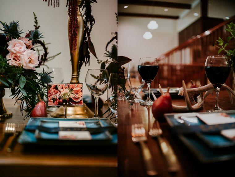 Sugar Pear Designs, Madison Wisconsin, Moody Wedding Inspiration - The Chorus Wisconsin Wedding Venue