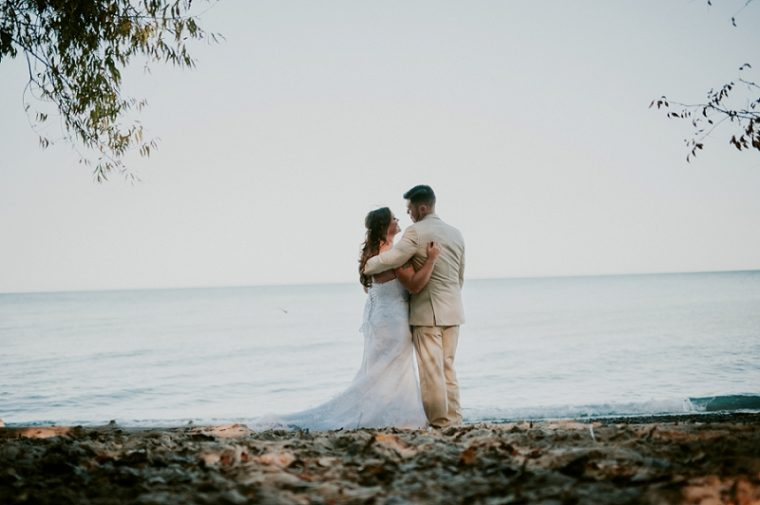 Milwaukee Wedding Photographer, First Look on a Beach, Married in Milwaukee, blue and white wedding, Wedding Party photos on a beach