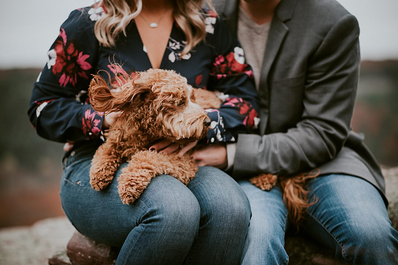 Madison Wisconsin Engagement Session with Dog