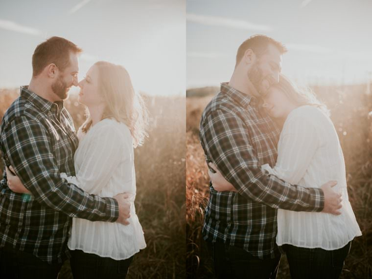 Sun filled Engagement Session in Fall Madison Wisconsin