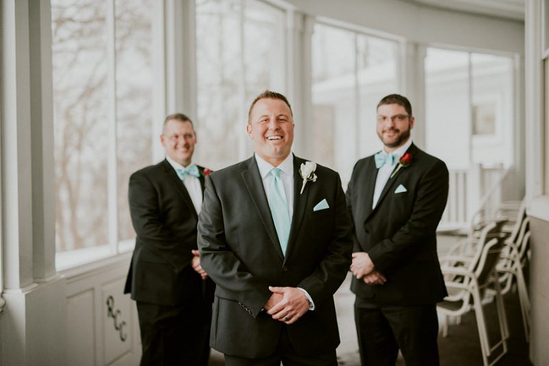 Groomsman Photos Indoor Wedding In Unique Wisconsin Venue
