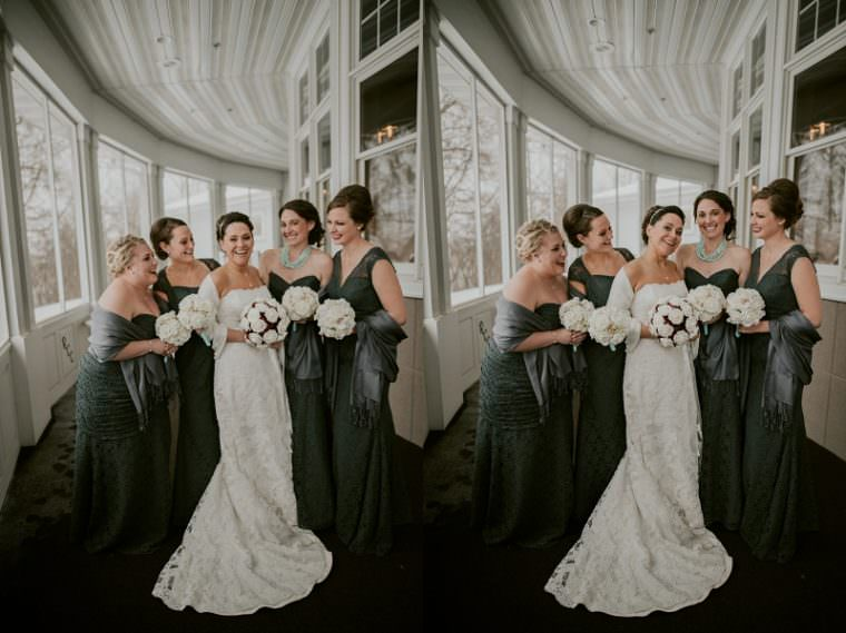 Bridesmaid Photos, Indoor Wedding in Unique Wisconsin Venue - Appleton Wisconsin, Madison Wisconsin Wedding Photographer