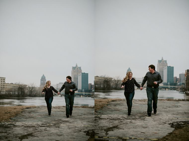 Riverwalk Water Buffalo Milwaukee Wisconsin Engagement, Third Ward Engagement, Milwaukee Wisconsin Wedding Photographer