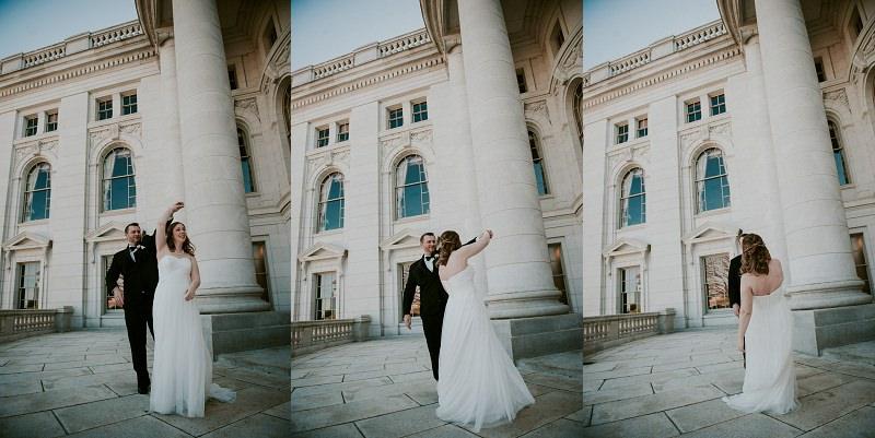 Madison Capital Building Wedding Portraits