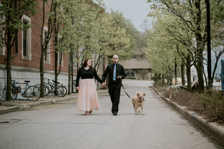 Engagement Session with dogs, Madison Wisconsin Wedding Photographer, Union Terrace Madison Wisconsin