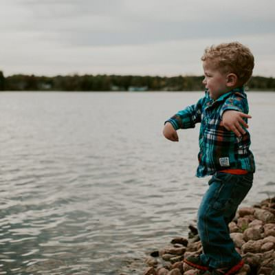 Fall Family Session, Family Photos on a Lake, Moody Family Portraits