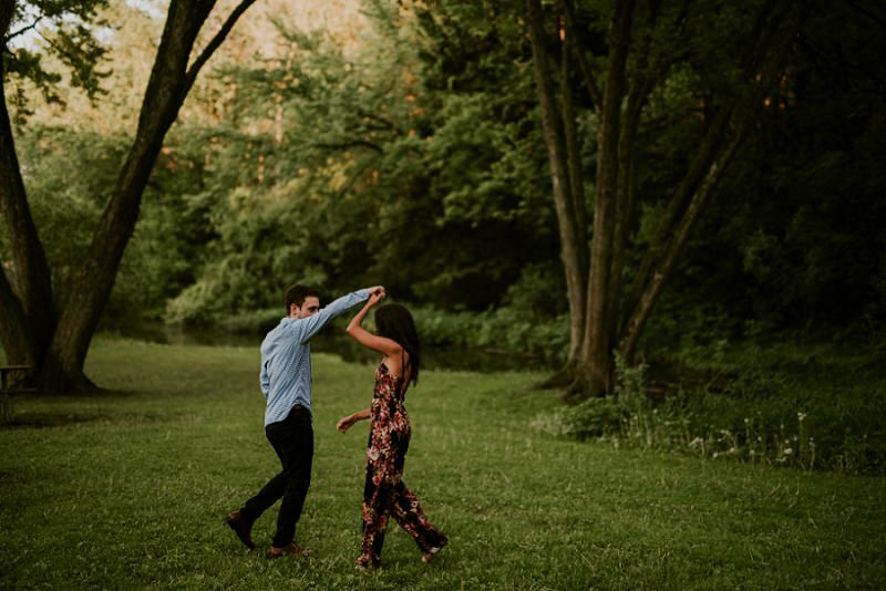 Phoebe & Kramer | Lake Geneva WI Engagement
