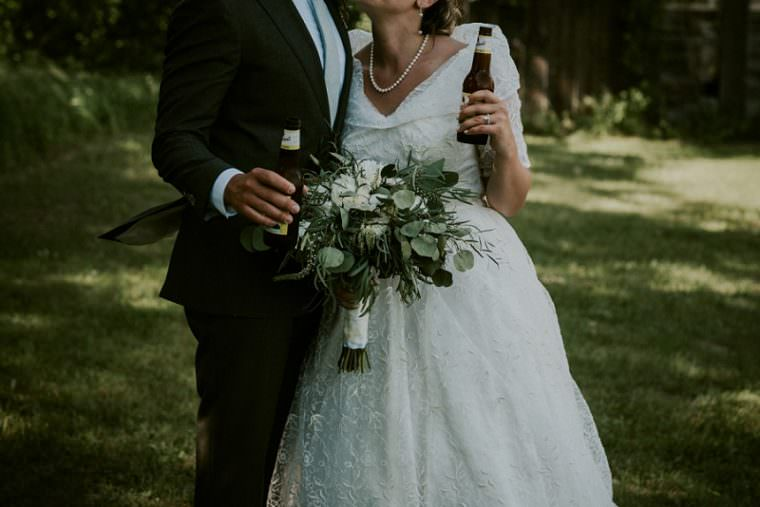 Bride and Groom Photos, Wisconsin Barn Wedding, Backyard Wedding, Wild Rose Wisconsin