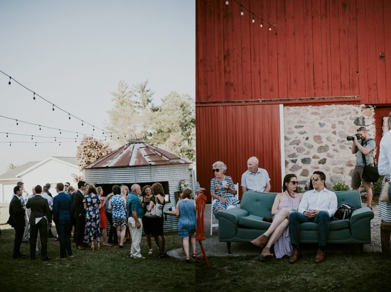 Wisconsin Barn Wedding, Backyard Wedding, Wild Rose Wisconsin