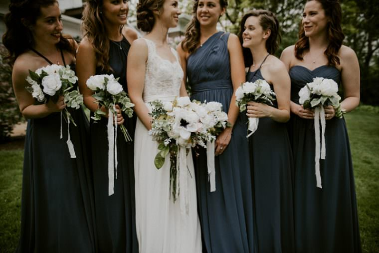 Grey Bridesmaid Dresses, DIY Wedding Photographers, Wisconsin Wedding, Summer Wedding, Madison WI Wedding Photographer