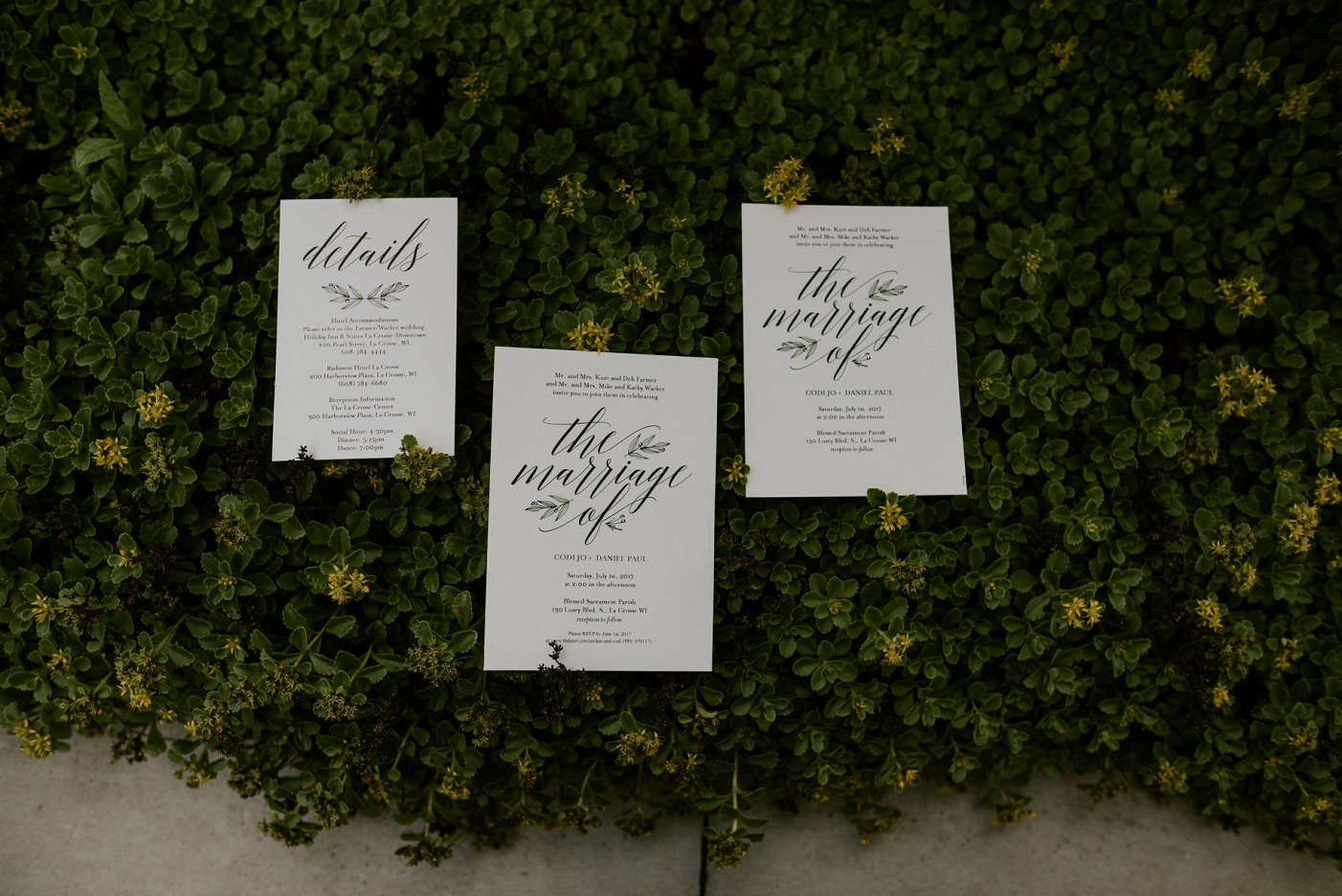 Calligraphy wedding Stationary