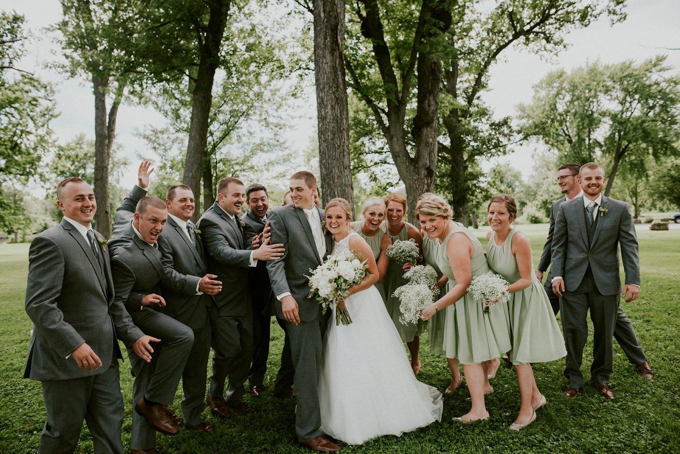 Green and Grey Wedding at Pettibone Park in La Crosse WI