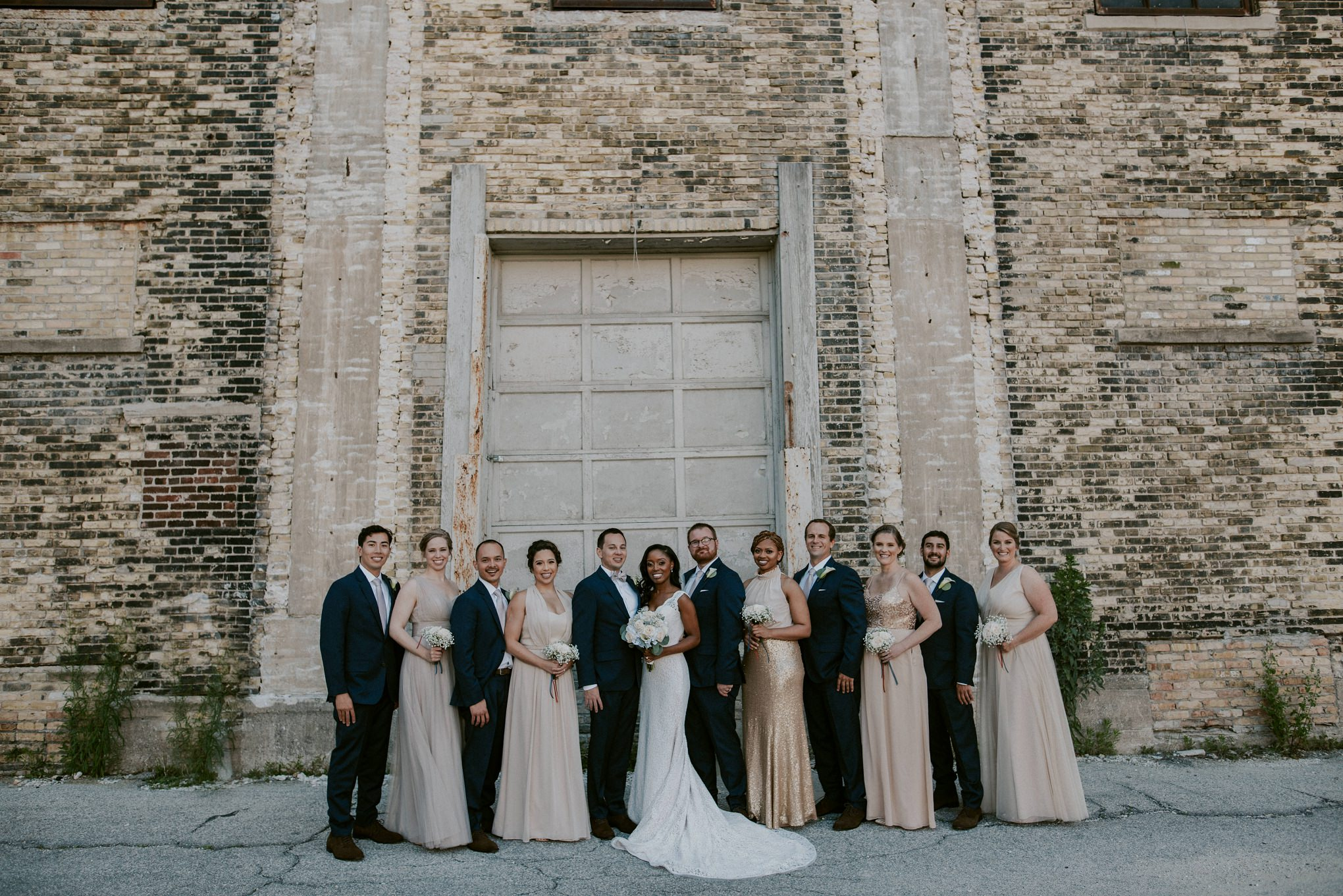 Gold Bridesmaid Dress Milwaukee Wedding Photographer Downtown Married In