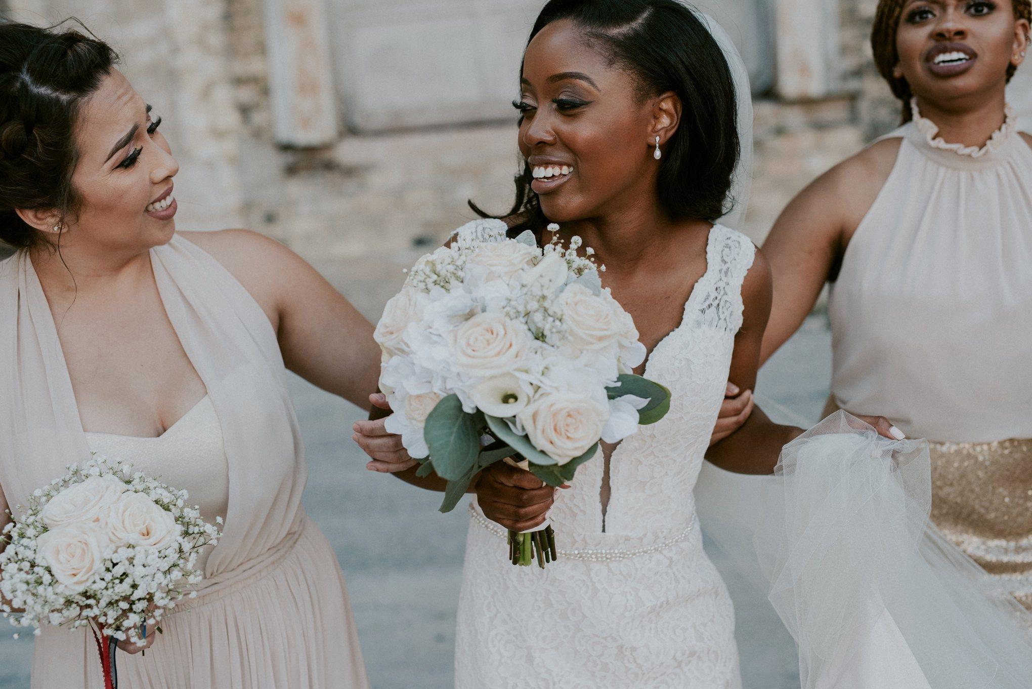 Gold Bridesmaid Dress, Milwaukee Wedding photographer, Downtown Milwaukee Wedding, Married in Milwaukee