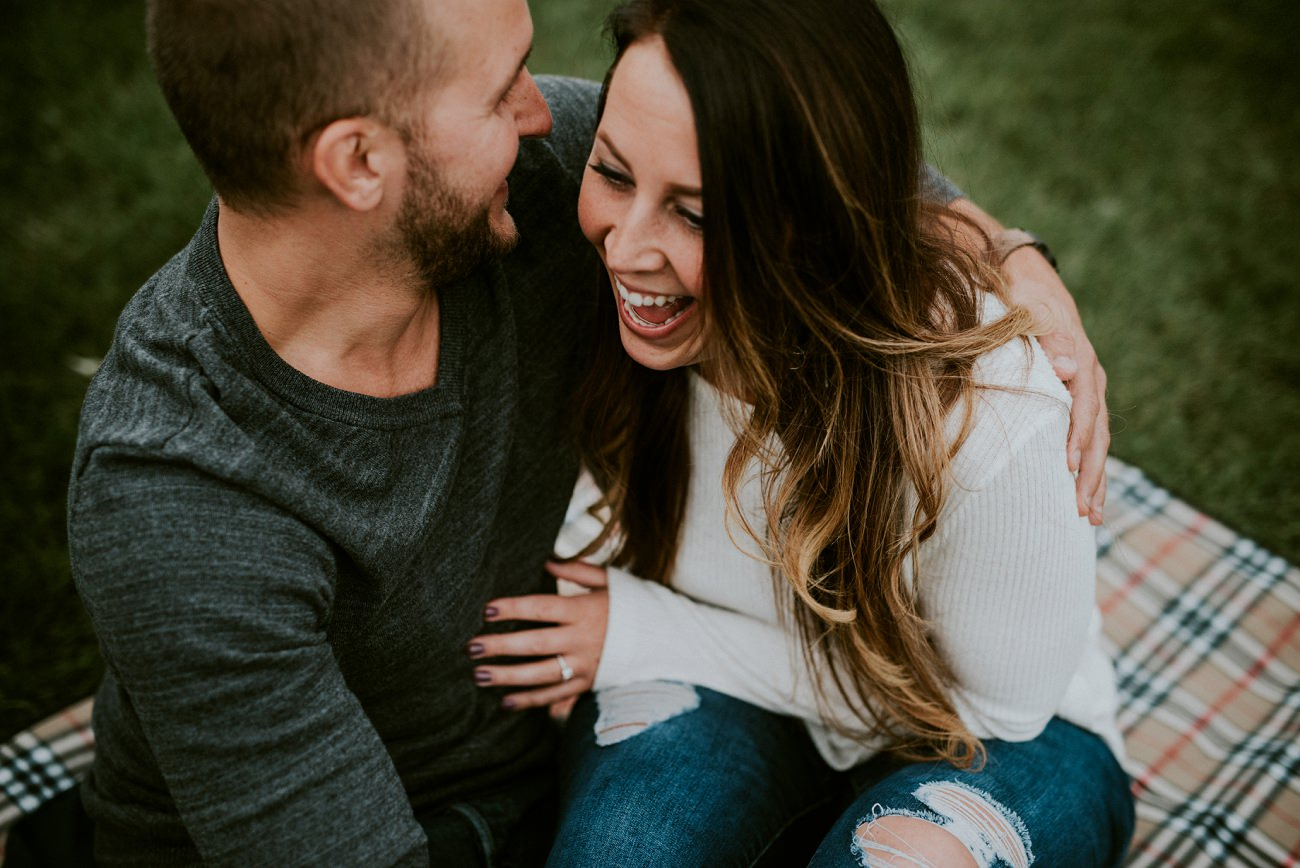 Fall Engagement with Puppy - Madison WI Wedding Photographer