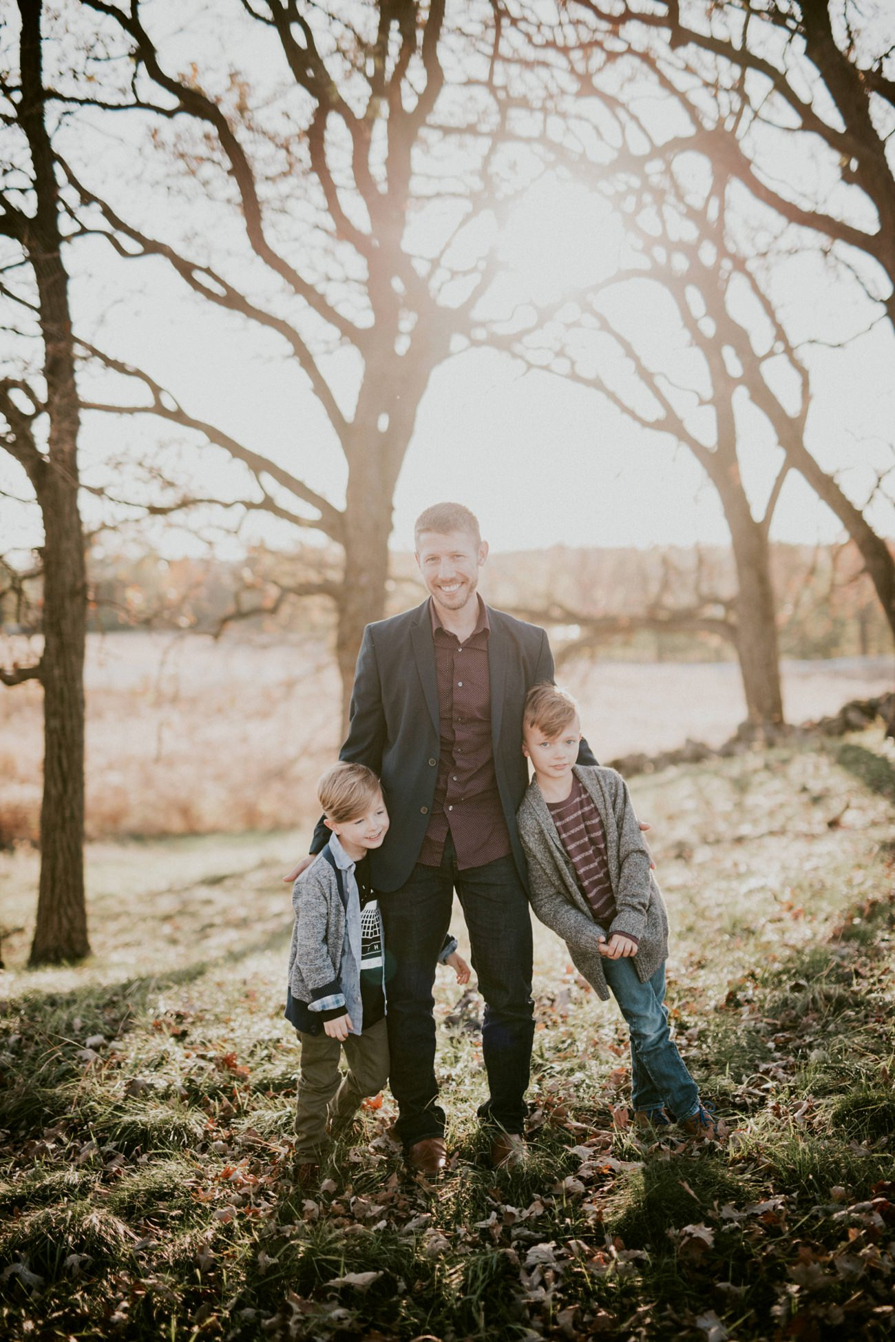 Fall Family Portraits, Mother Son, Father Son, Madison WI