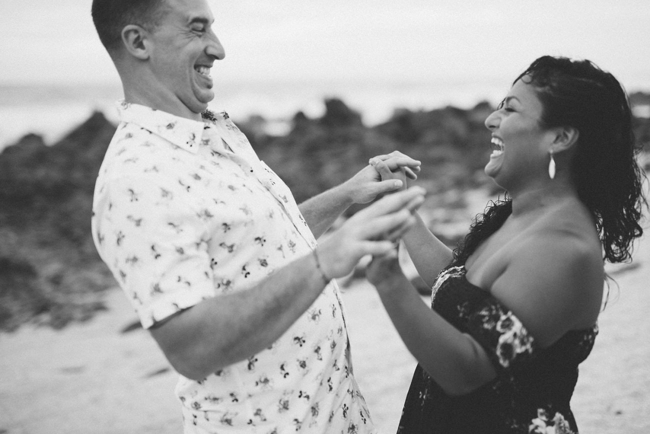 Trocones Mexico Destination engagement Photographer beach session - Natural Intuition Photography