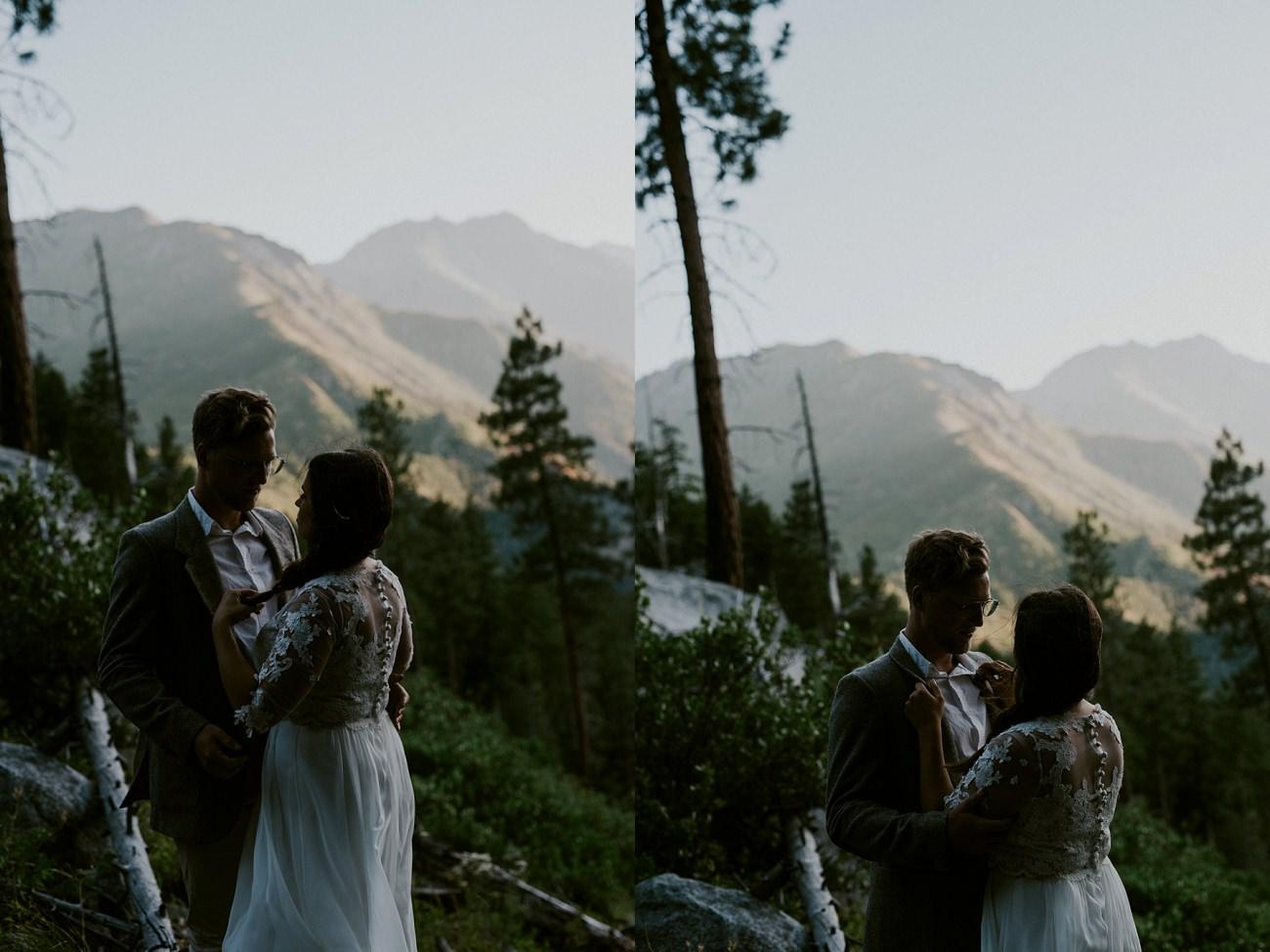 Leavenworth Washington Mountaintop Elopement - Cascade Workshop - Natural Intuition Photography