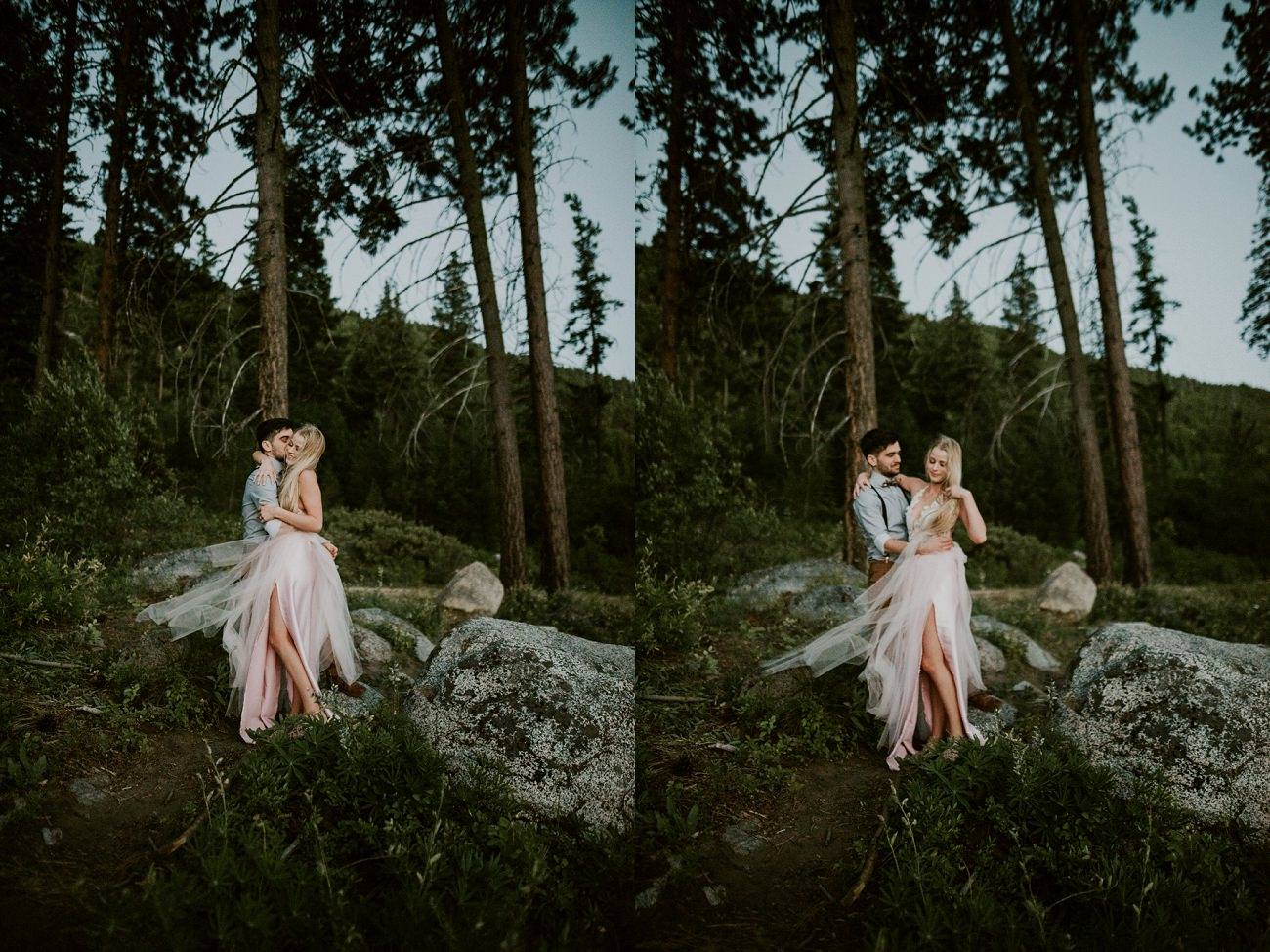 Moody and adventure filled mountain elopement Leavenworth washington