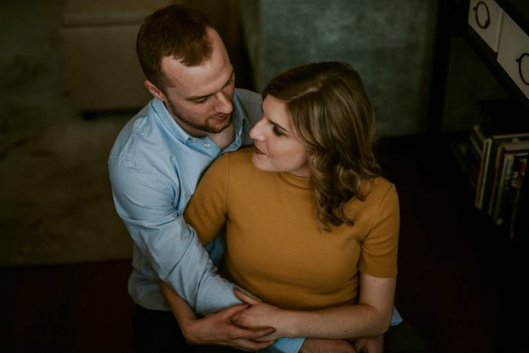 In Home Engagement Session - Chicago Engagement - Chicago Wedding Photographer