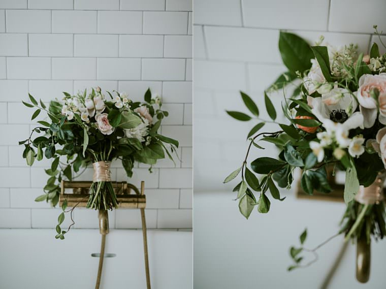 Blush and White Wedding floral - Onesto Wedding in Milwaukee Wisconsin - Milwaukee Wedding Photographer