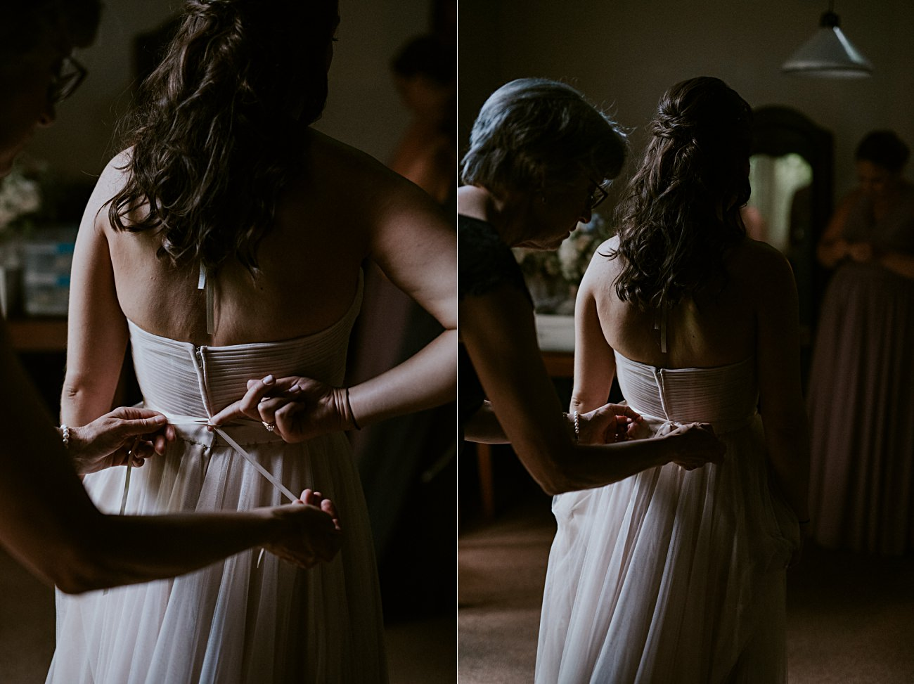 Mother and Daughter Moments on wedding day, Backyard Hilltop Wedding in Spring Green Wisconsin, Madison WI Wedding Photographer
