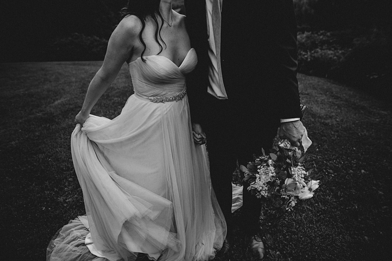 Moody Wedding, Navy Groom Suit, Bride and Groom Photos, Couples photos on wedding days, Stormy sky's, Blush wedding gown, Backyard Hilltop Wedding in Spring Green Wisconsin, Madison WI Wedding Photographer