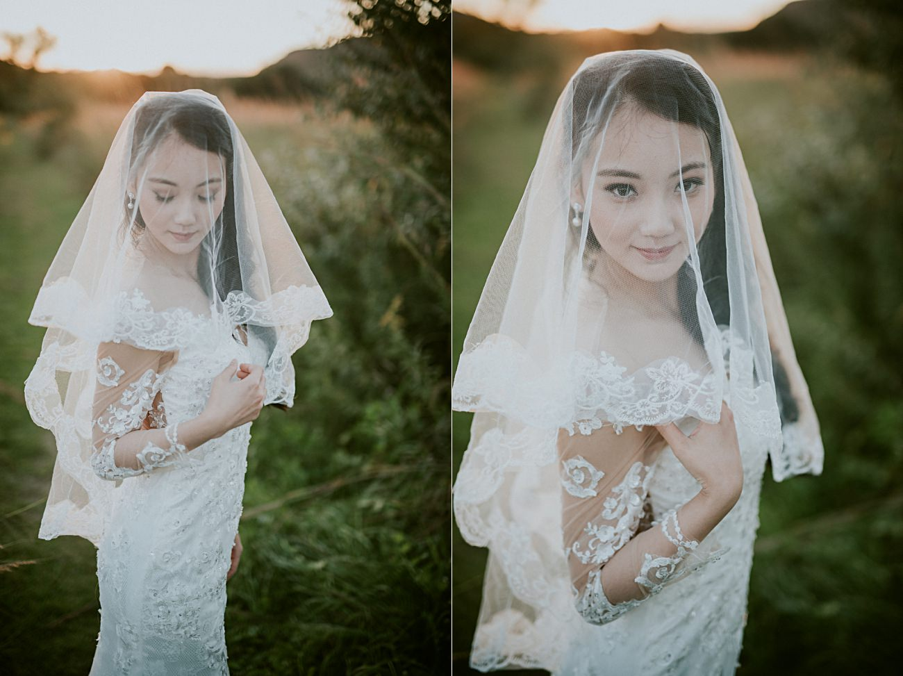 Anniversary Session in a Field - Bridal portraits in a filed - madison wi photographer