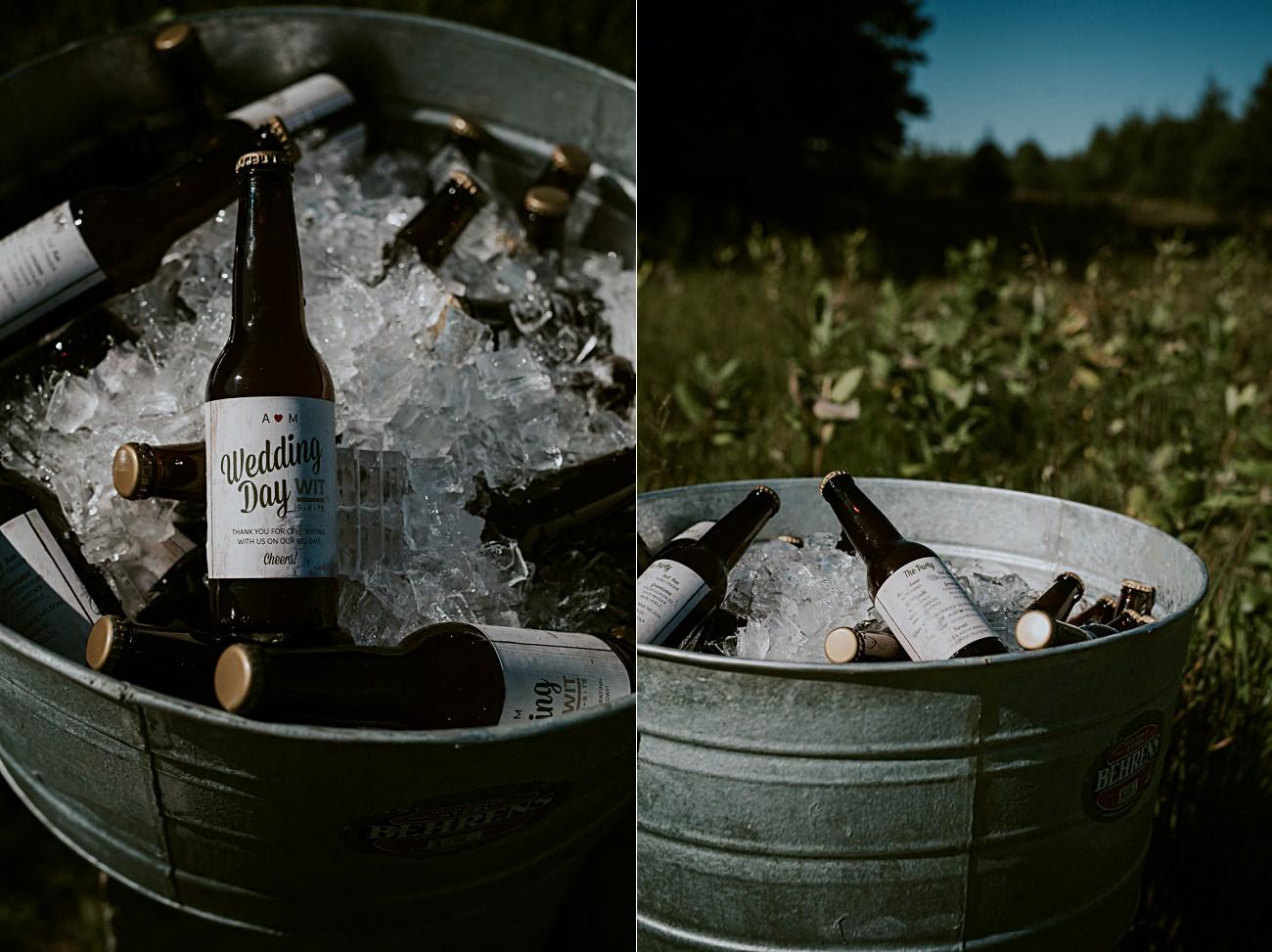 Couple Brews their own beer, Wedding Party Photos - Door County Wedding