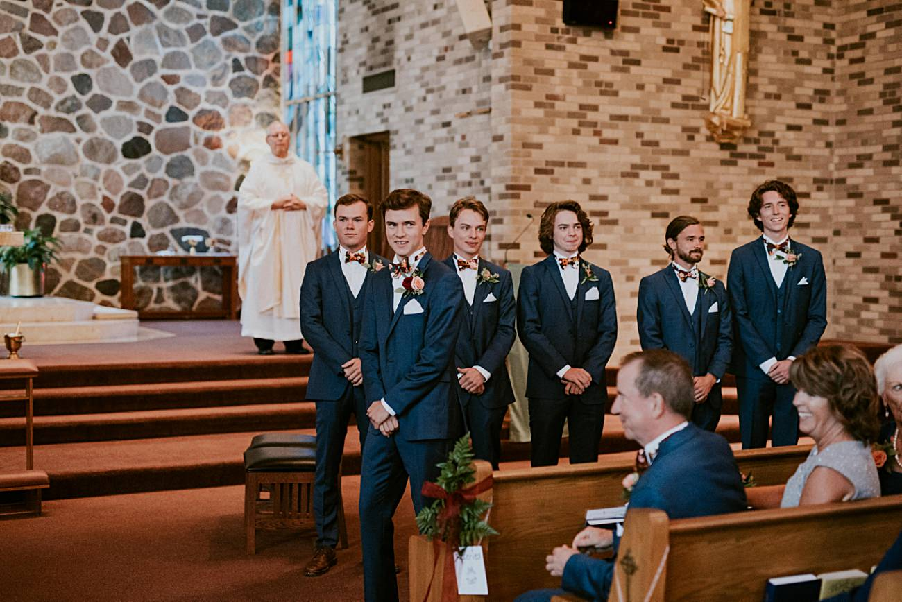 Geneva National Resort Wedding in Lake Geneva, Golf Course Wedding, Jewel Toned Wedding Dresses, Navy Suits for Groomsman - Lake Geneva Wisconsin Wedding Photographer - Natural Intuition Photography