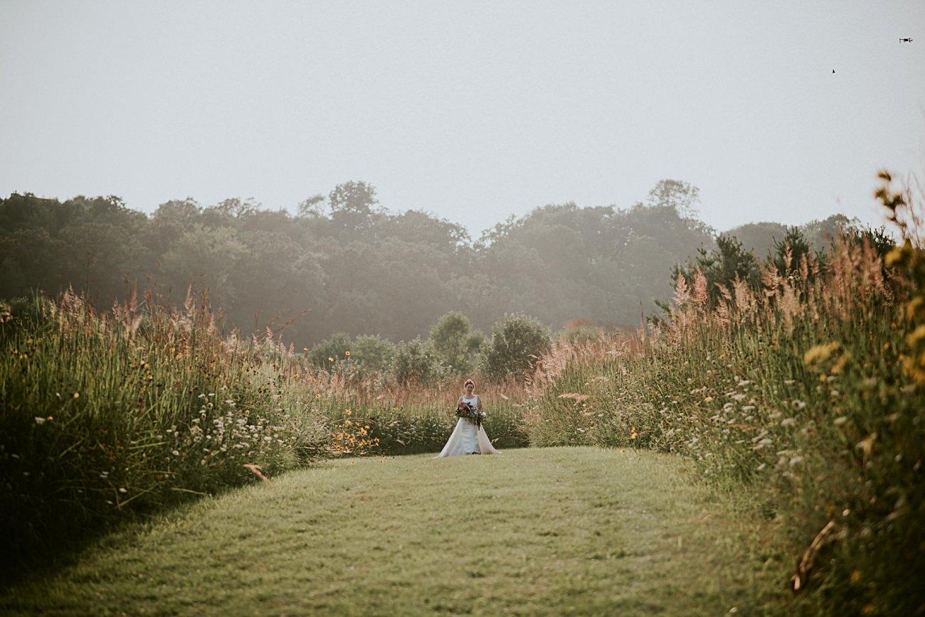 Weddings with Dogs, First Look, Mt Horeb Wisconsin Backyard Wedding - Madison Wisconsin Wedding Photographer