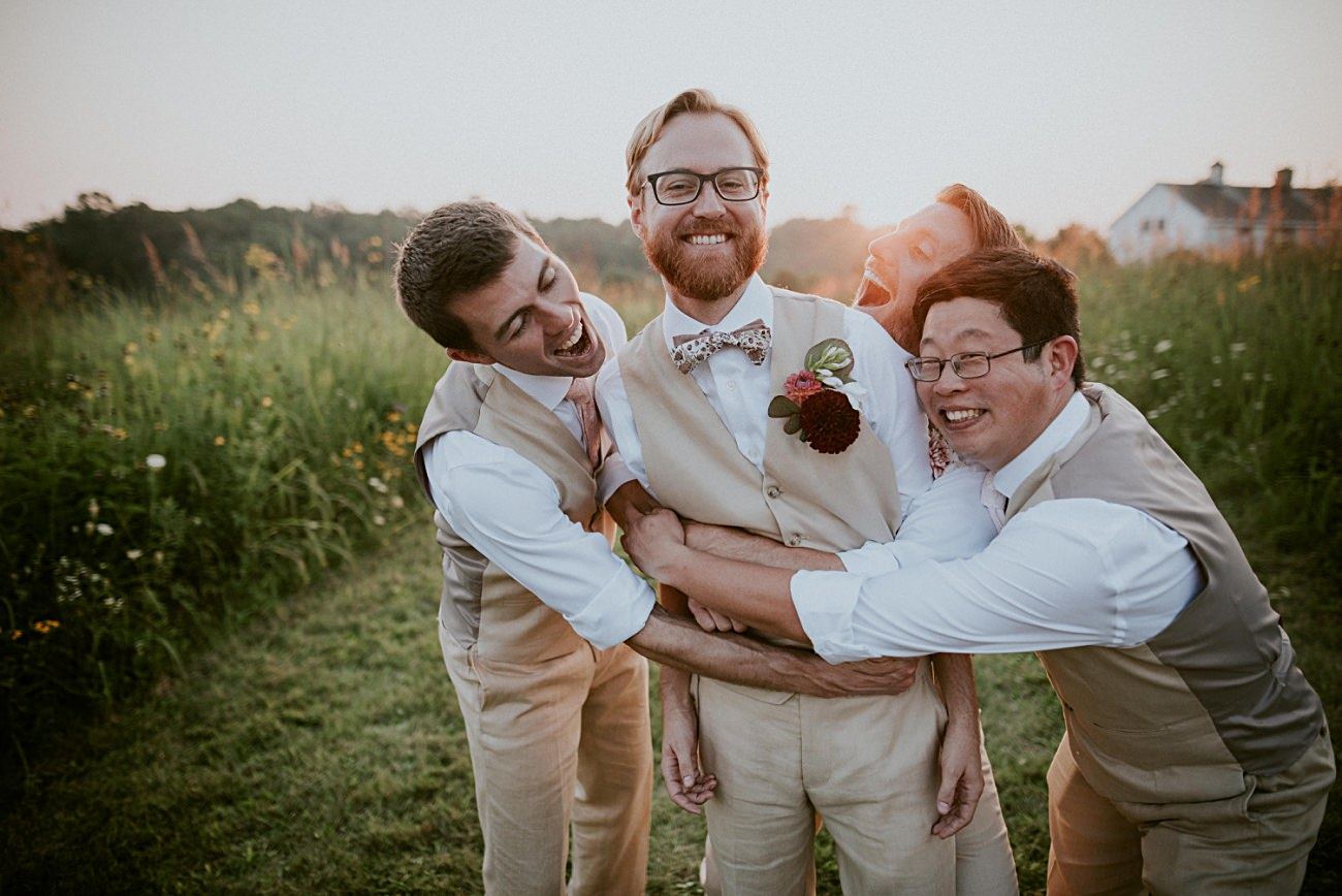 JAY & BEE | BACKYARD MT HOREB WISCONSIN WEDDING