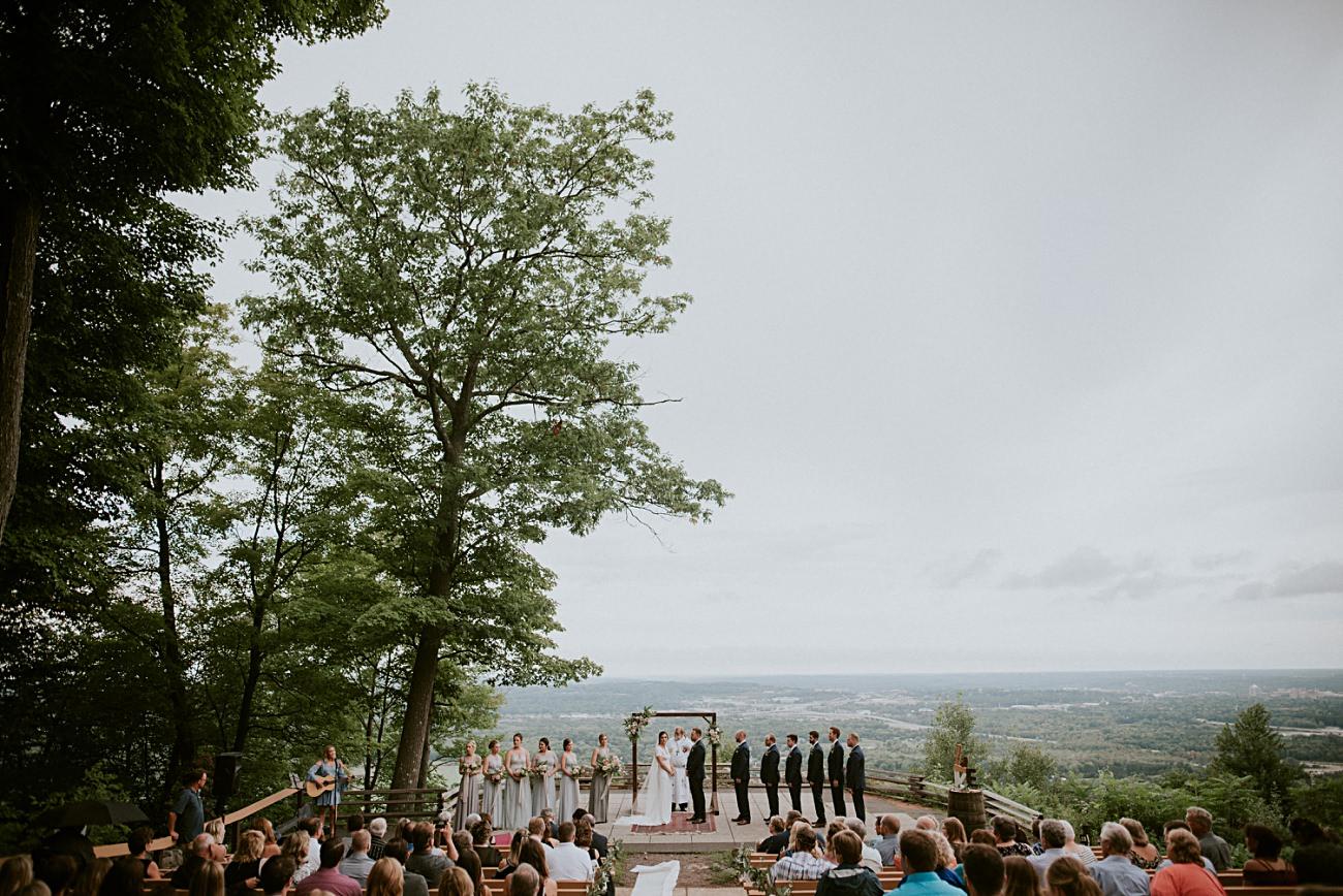 Mountaintop Wedding, Wedding Dress with sleeves, Rib Mountain Wedding in Wausau Wisconsin - Mountaintop Wedding, Wisconsin Wedding - Natural Intuition Photography
