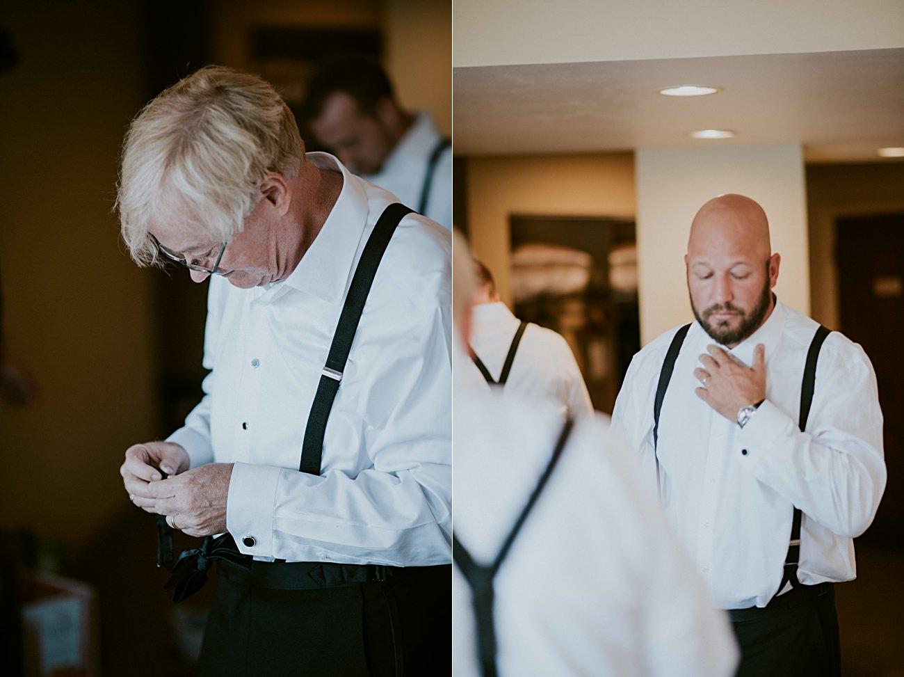 Grooms getting ready, Heidel House Wedding - Green Lake Wisconsin Wedding