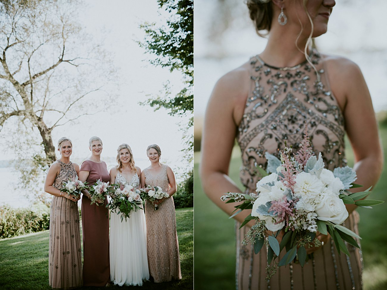 jewlel toned bridal gowns - Lakeside wedding in Green Lake Wisconsin -Heidel House Wedding - Green Lake Wisconsin Wedding