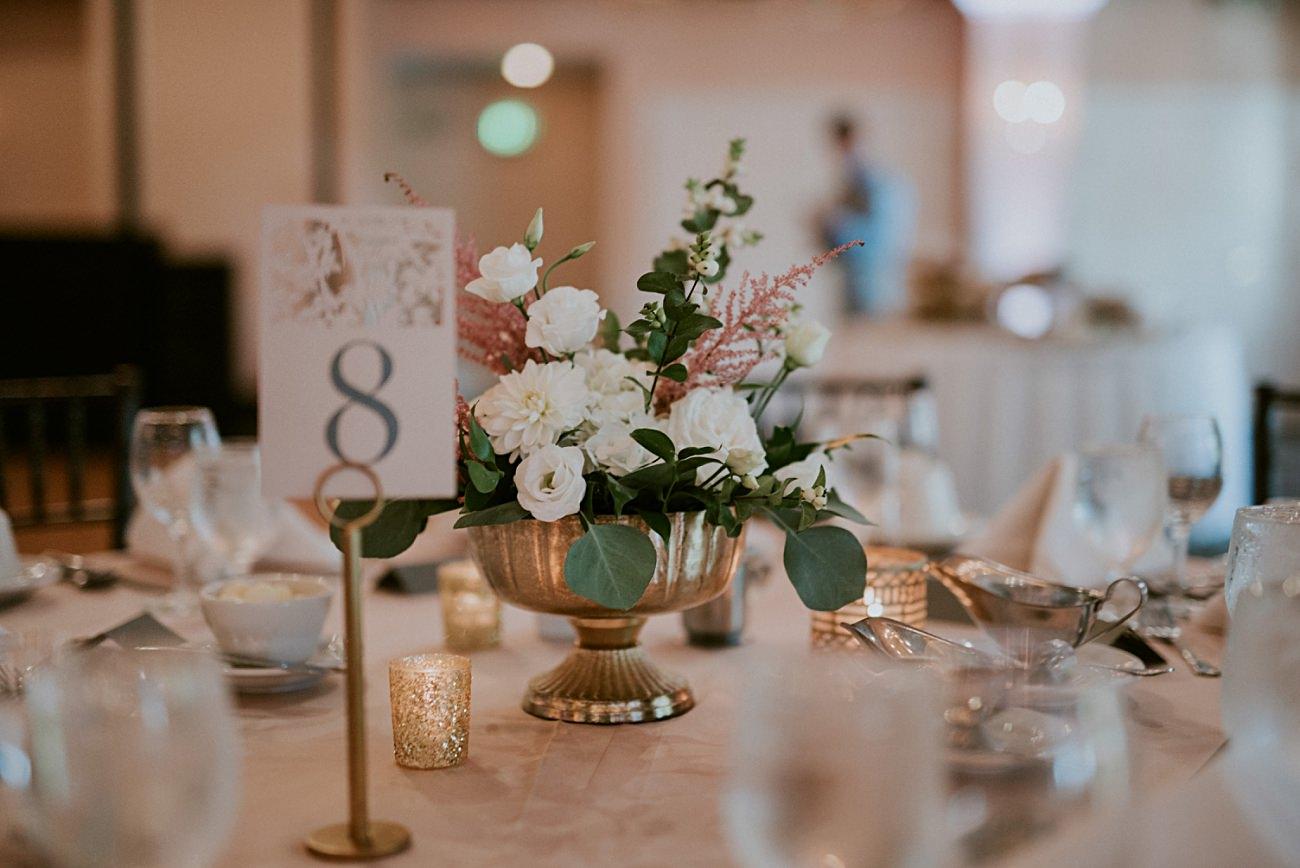 Gold & Blush Wedding decor, Lakeside wedding in Green Lake Wisconsin -Heidel House Wedding - Green Lake Wisconsin Wedding