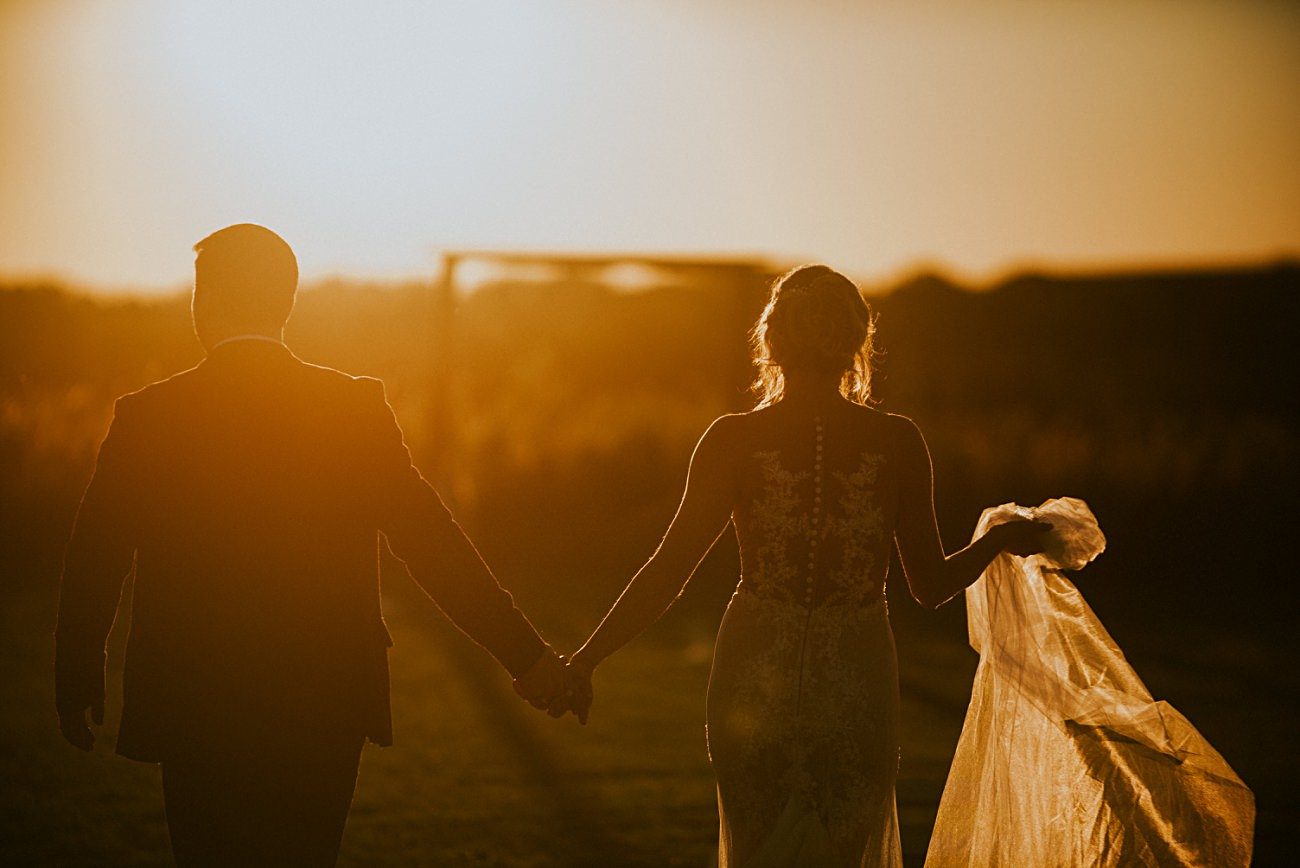 Golden Hour Wedding Party Photos
