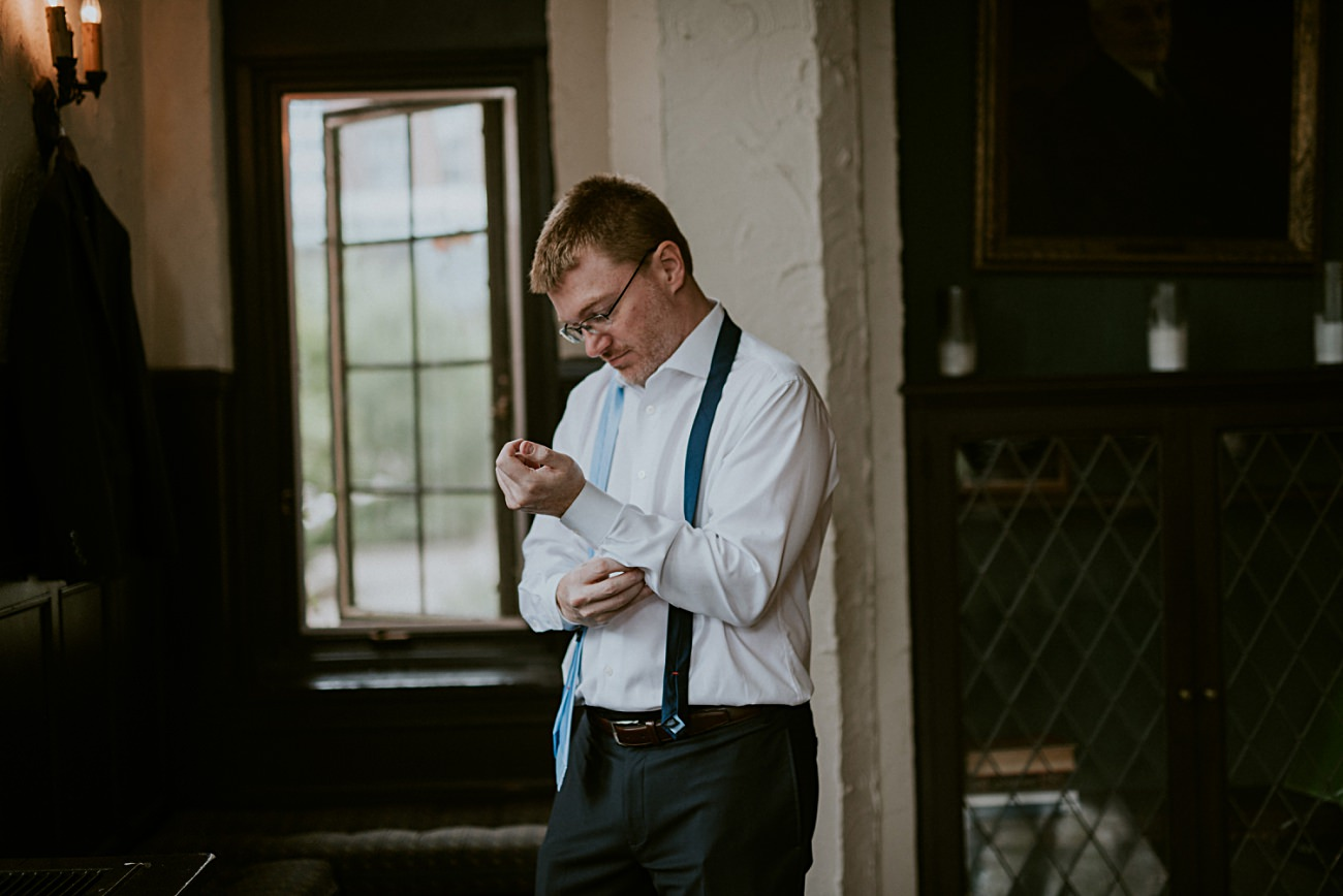 Groom Getting Ready, Madison WI Wedding Photographer - Natural Intuition Photography