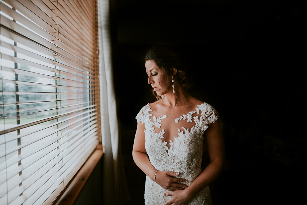 Wisconsin Dells Wedding,, Lace Wedding Dress, Bride Getting Ready