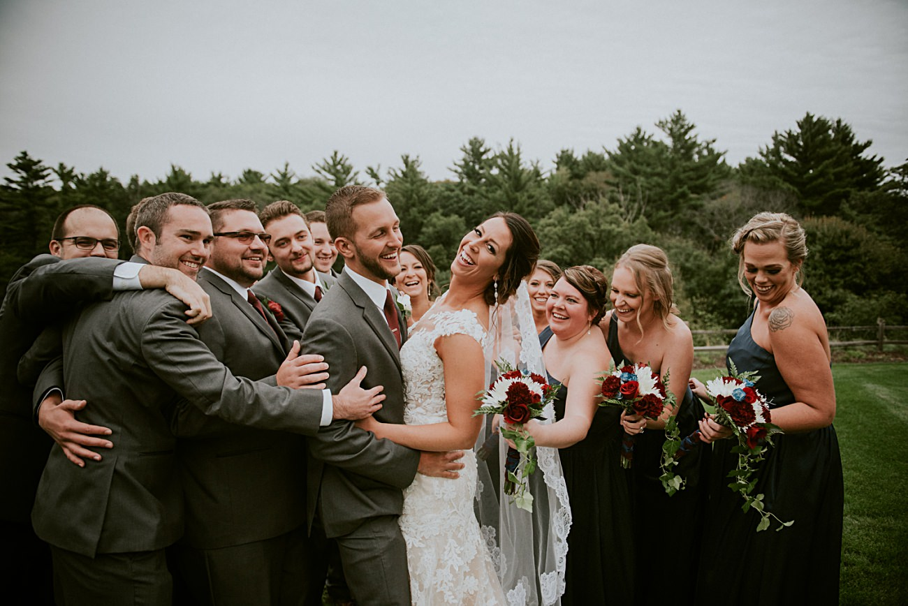 Wisconsin Dells Wedding,, Lace Wedding Dress, Madison WI Photographer, Wedding Party Photos