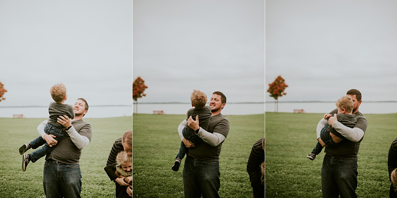 Father and son, Fall Family Photography in Madison Wisconsin Natural Intuition Photography
