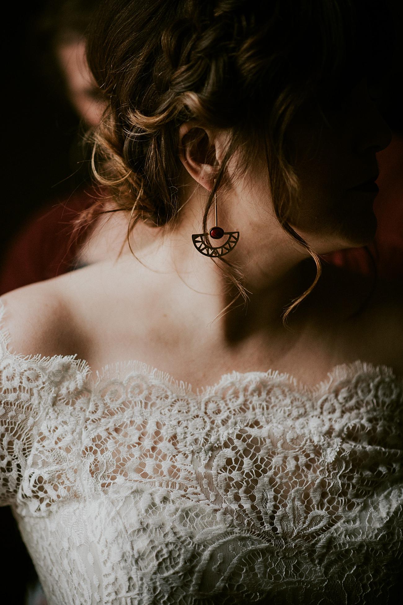 First Look, Winter Wedding, Lageret Wedding in Stoughton Wisconsin, Fall Wedding, Madison WI Wedding, Industrial Wedding, Moody Wedding, floral bridesmaid dress,