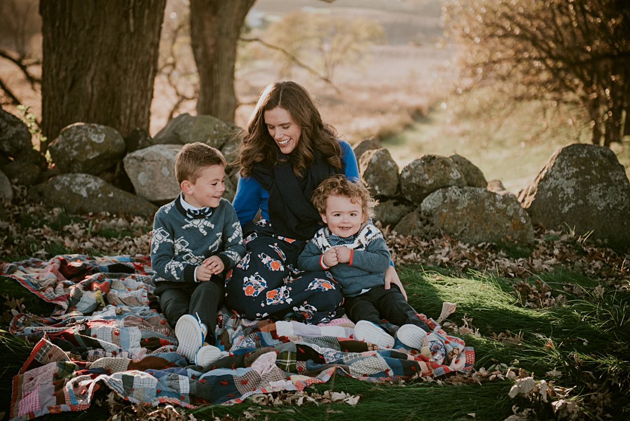 Mom and sons, Madison Family Photographer - Fall Family Photography - natural intuition photography