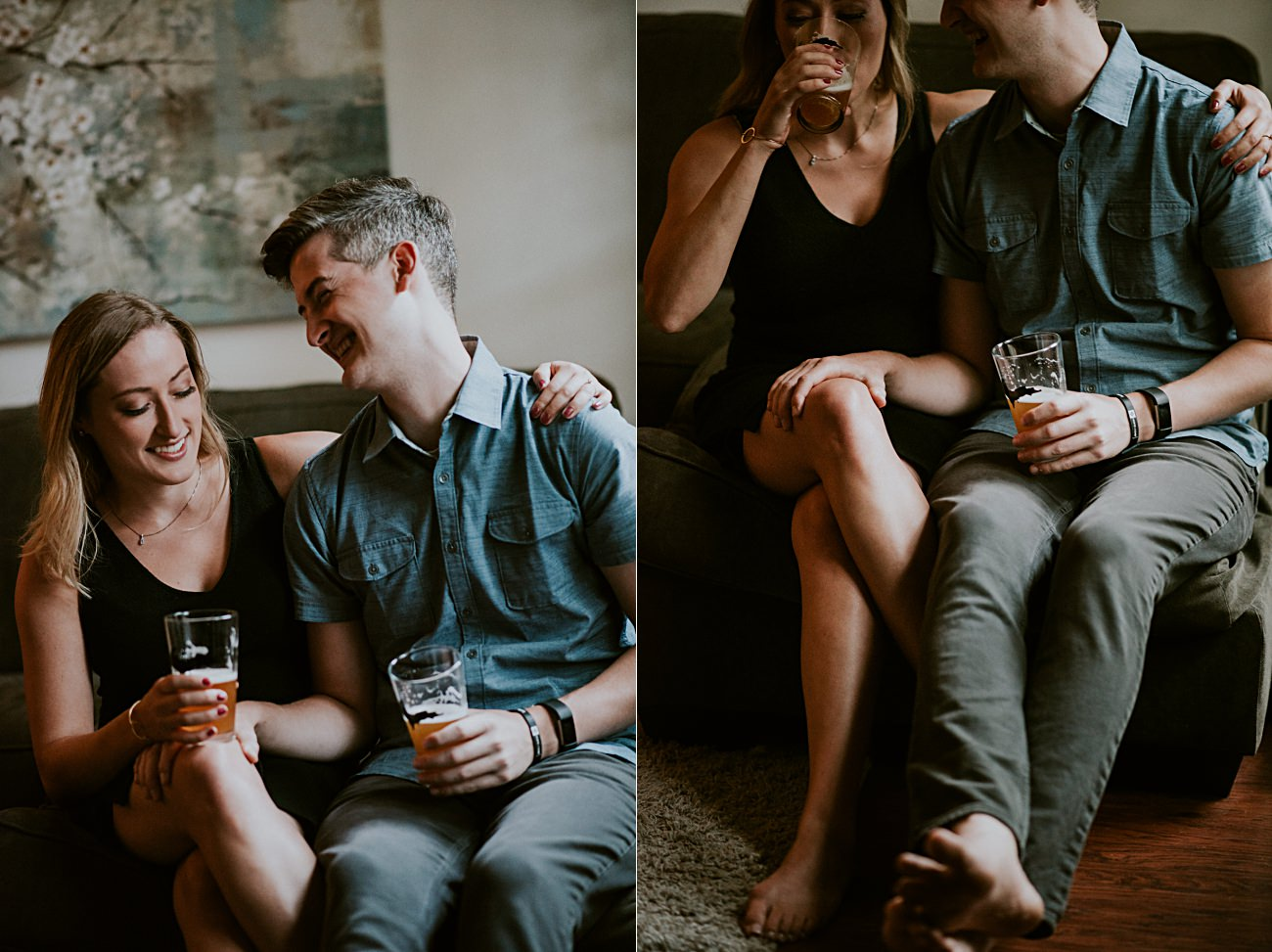 Chicago In Home Engagement Session, Chicago Wedding Photographer - natural intuition photography